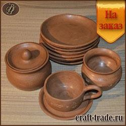 Посуда из глины на заказ