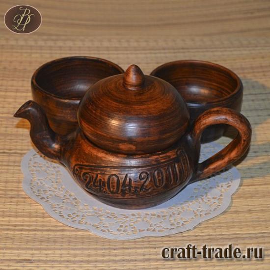 Чайник заварной с пиалами