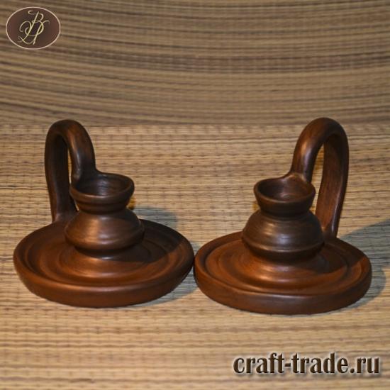 Два керамических подсвечника