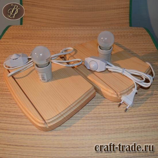 Основа для настенных светильников прямоугольной формы