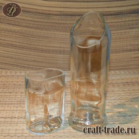 Резанные бутылки из стекла
